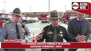 Officials provide update after Ohio 7th-grader shoots himself at school - Video