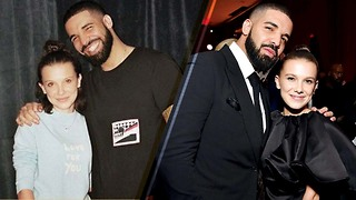 Millie Bobby Brown REUNITES with Drake at the 2018 Golden Globes Afterparty! - Video