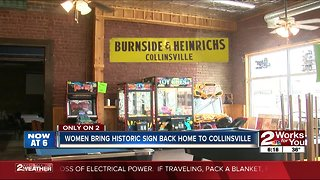 Women bring historic sign back home to Collinsville