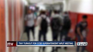 Low turnout at superintendent search meeting - Video