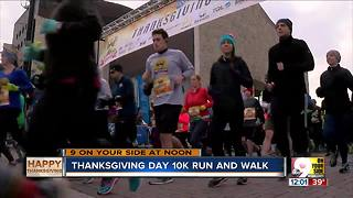Thanksgiving Day 10K sees record number of runners - Video