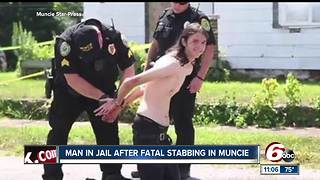 Muncie man fatally stabbed, suspect in custody - Video