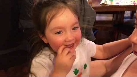 Little Girl Learns She Is Going to Be a Big Sister