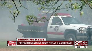 Grass fire at Chandler Park - Video