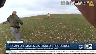 Coolidge Officer Blouir talks about capturing escaped inmates