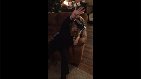 Mom tries VR after too much holiday drinking