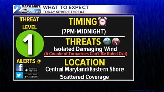 Strong to Severe Storms Possible - Video