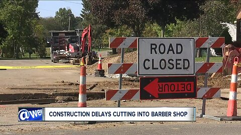 Barber blames construction delays for cutting into business