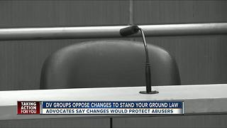 Anti-domestic violence advocates warn against Stand Your Ground law change - Video