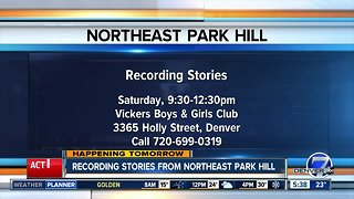 Recording stories from Northeast Park Hill residents