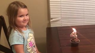 Adorable Little Girl Gets Three Birthday Songs - Video