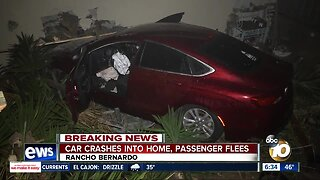 Car crashes into back of Rancho Bernardo home