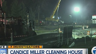 Candice Miller cleaning house - Video