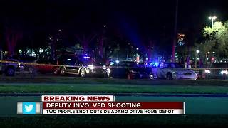 HCSO: Deputy-involved shooting injures two people outside of Home Depot - Video