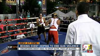 Boxing event on Fountain Square aims to keep kids away from violence - Video