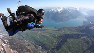 Skydiving in Switzerland with absolutely incredible scenery