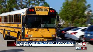 Parents concerned over late school bus - Video