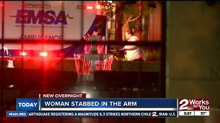 Man in custody after stabbing his wife - Video