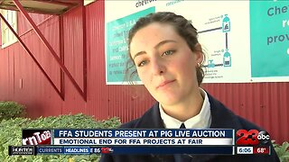 FFA students present at kern county fair live auction