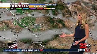 Warm and dry conditions continue through the weekend