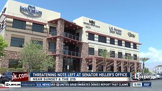 Threatening note left at Senator Dean Heller's office - Video