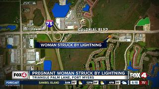 Police: Pregnant woman struck by lightning in Florida