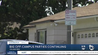 Big off-campus parties continue to be an issue for SDSU