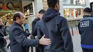 Young Boy Trolls New Zealand Rugby Team on Irish Street - Video