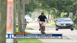 Proposed improvements to Spruce Street could better protect cyclists, pedestrians - Video