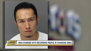 Man charged with recording people in changing area