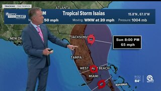 Tropical Storm Isaias forms