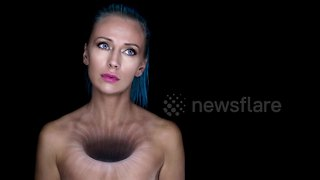 Makeup Artist Creates 'Hole In The Soul' Bodypainting Illusion - Video