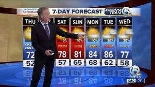 Latest Weather Forecast 5 p.m. Wednesday - Video
