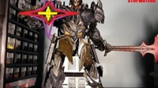 oversized tf5 megatron vs team autobot