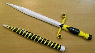 How to make a paper Mini Stiletto Sword  - Video