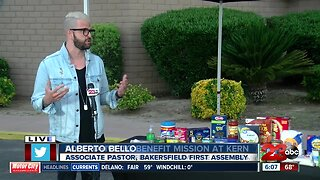 Local church holds food drive for The Mission at Kern County
