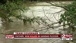 Oklahoma father, son killed in Kansas flooding