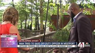 Man tried to save off-duty officer in Westport - Video