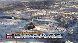 Pipe buried incorrectly at South Tampa home - Video