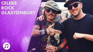 Bradley Cooper & Johnny Depp surprise at Glastonbury - Video