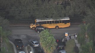 Three students hit by vehicle at bus stop in Brandon - Video