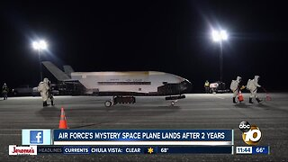 Air Force's mystery space plane lands after 2 years