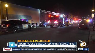 Fire erupts at Hillcrest bathhouse, several people forced to flee