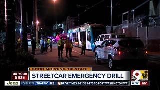 Officials conduct emergency training on streetcar - Video