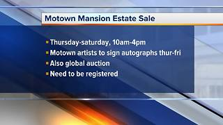 Motown Mansion estate sale happening this weekend - Video