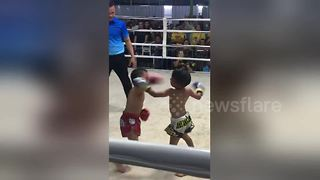 Shocking footage shows 5-year-olds in 'brutal' Muay Thai fight