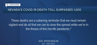 More than 1,000 people have died of COVID in NV