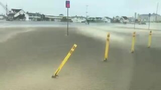 Isaias blows sand inland in Ocean City