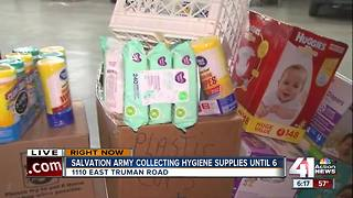 Salvation Army collects hygiene supplies for displaced families in Hoston - Video