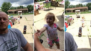 Toddler Asks Dad To Pay For His Lemonade, Then Walks Away With It - Video